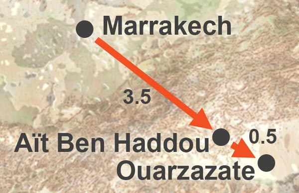 Day trip to Ouarzazate and Ait Ben Haddou from Marrakech. Ait Ben Haddou and Ouarzazate tour