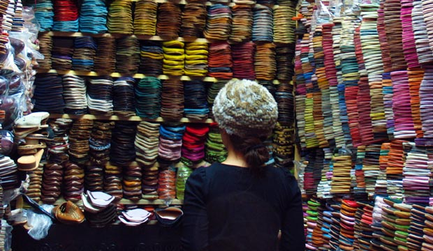 Don't let them see what you're interested in when you haggle in Morocco