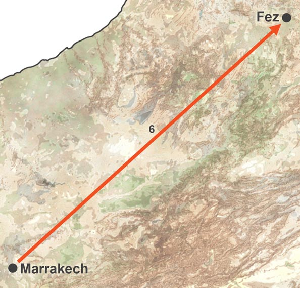 Marrakech and Fez Train Trip. Train Trip of Fez and Marrakech