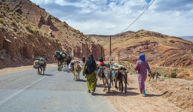 Dades on the way from Marrakech to Merzouga Morocco