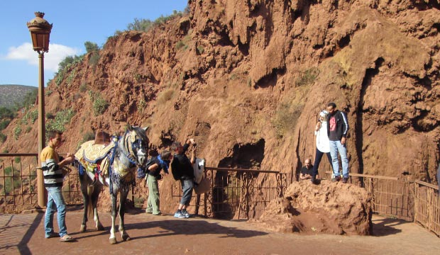 Ouzoud Falls. Entrance fee is free, no cost at all