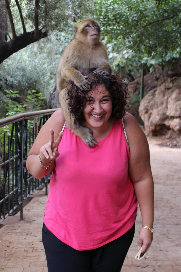 Take special care with monkeys at the Ouzoud Falls in Marrakech