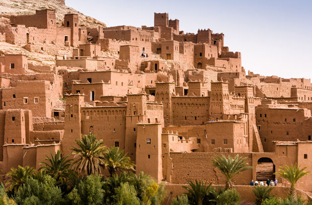The Kasbah of Ait Ben Haddou in Morocco is a World Heritage Site