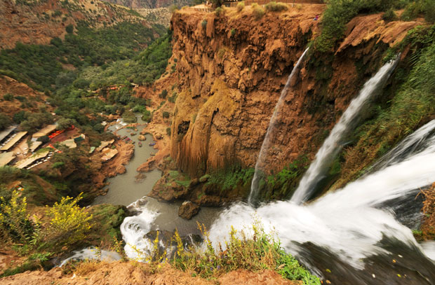 The Ouzoud Waterfalls in Marrakech has a constant flow