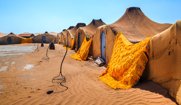 Sleeping in the tent in Morocco is an unforgettable experience
