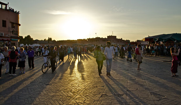 Jemaa El Fna Square is visited by day, but it is also what to do in Marrakech at night
