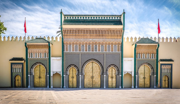 The Royal Palace in Fez Jdid has seven bronze doors