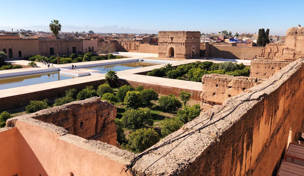 To see Marrakech in two days, the first one we should head south and visit the Badi Palace