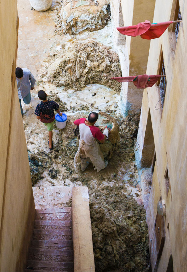Despite the fact that the Fez tannery in Morocco cause uncomfortable sensations, the experience should be lived