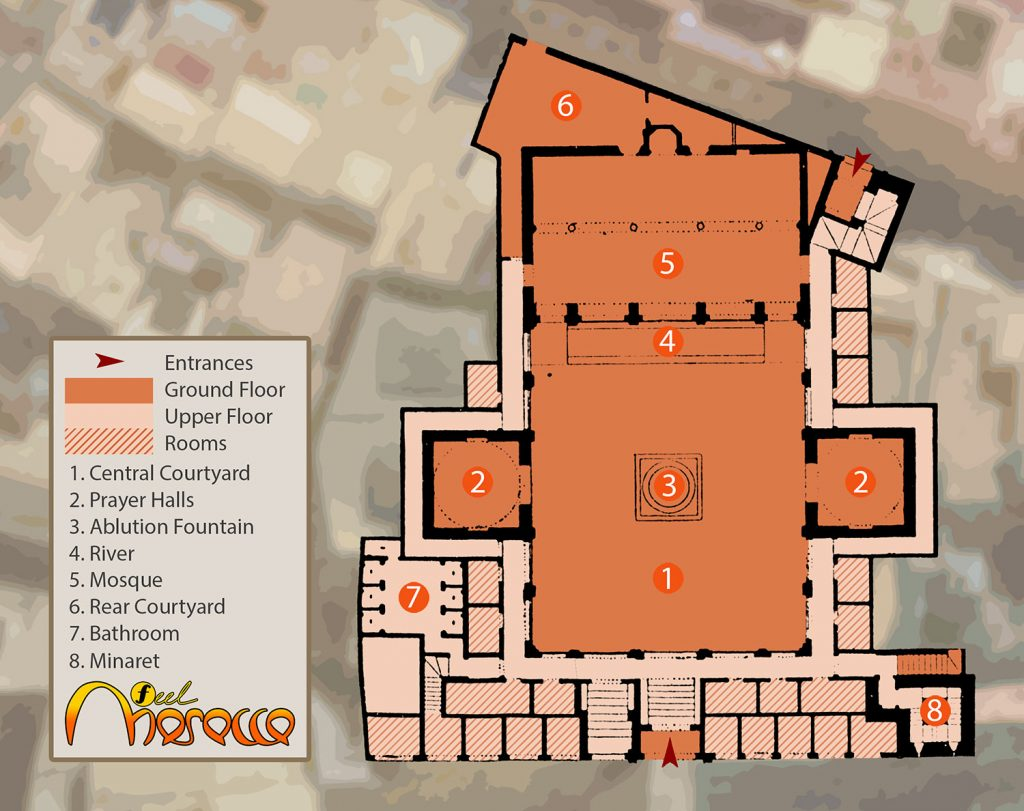 Layout of the Bou Inania Madrasa in Fez