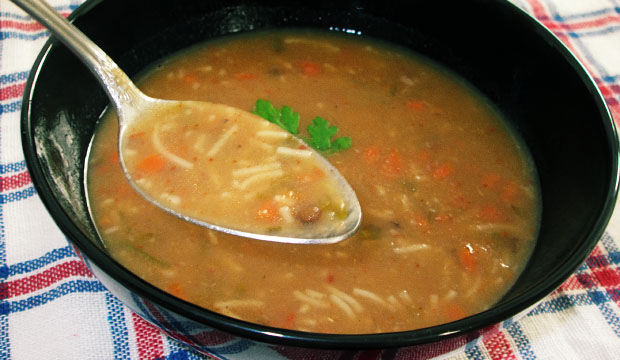 Moroccan harira soup is a very nutritious dish. Harira ingredients are carrot, spices, noodles