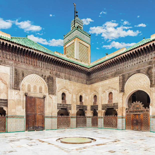 The life of the student at the Bou Inania Medersa or Madrasa Bouanania was prestigious but also austere