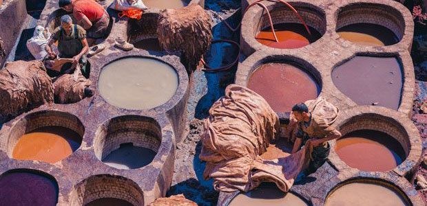 Tanneries of Fez. Fez Morocco tourism guide