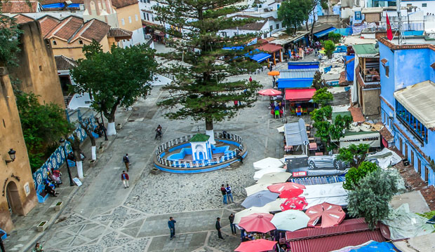The essential place to see in Chaouen is Plaza Uta el Hamman