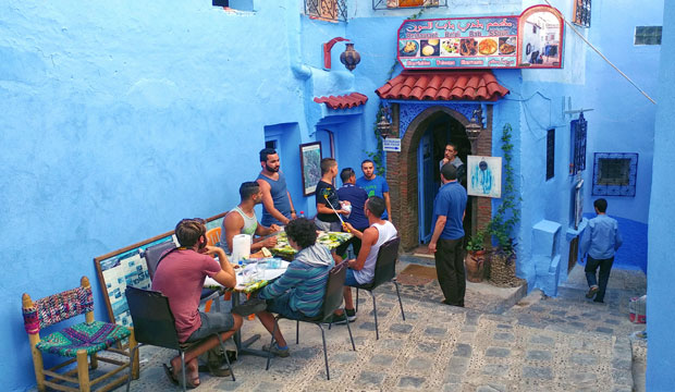 One of the best places to eat in Chefchaouen is Beldi Bab Ssour Restaurant