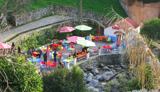Restaurants with views of the waterfall are probably the best restaurants in Chefchaouen