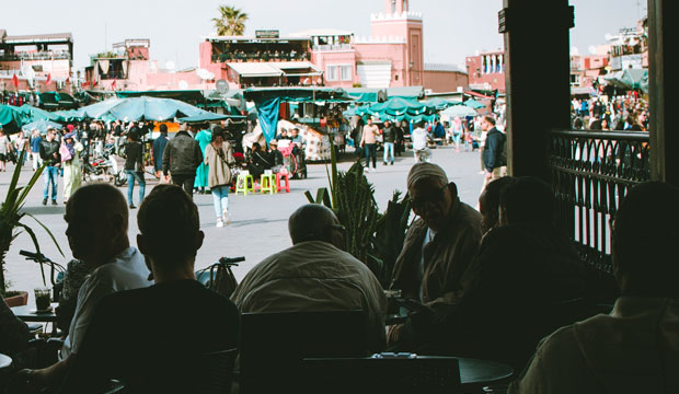 On any terrace in Morocco the conversation runs like in the hafa cafe in Tangier