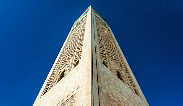 The Hassan II Mosque in Casablanca has become a symbol of the city