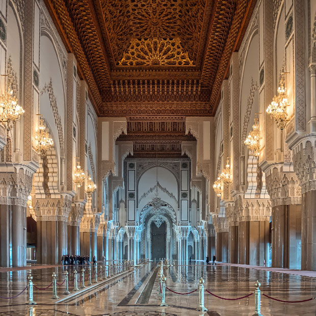 The Hassan II Mosque in Casablanca is the only active mosque in Morocco that's open to non-Muslims